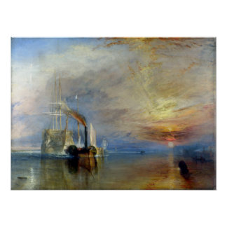 Poster Joseph Mallord William Turner le Temerai de combat
