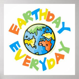 Poster Jour de la terre chaque jour