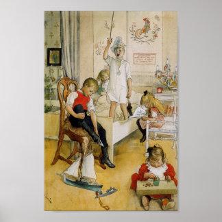 Poster Jour de Noël dans la crèche