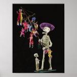 Poster Jour des morts : Marchand ambulant de jouet, d'Oax