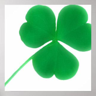 Poster Jour du shamrock vert irlandais | St Patrick