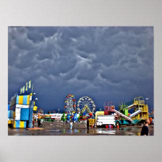 Poster Jour orageux à la foire