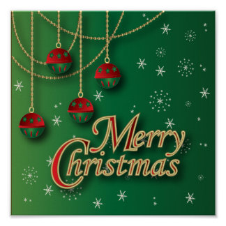 Poster Joyeux Noël vert clair