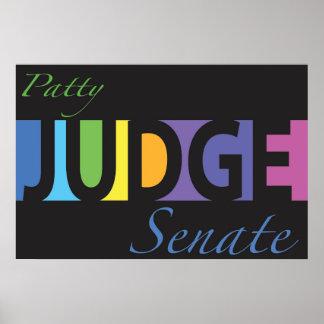 Poster Juge de Patty pour le sénat v3