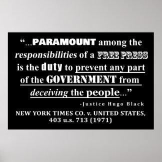Poster Jurisprudence de citation de presse libre (1971)
