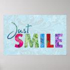 Poster Juste citation heureuse 01 de sourire