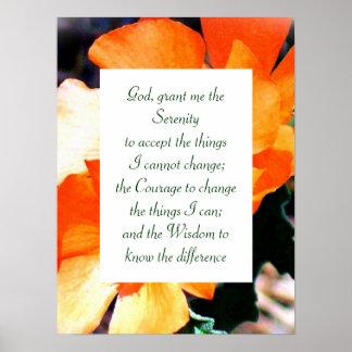 Poster Juste une prière de sérénité de mauvaise herbe