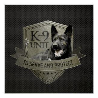 Poster K-9 unité - berger allemand d'unité de police