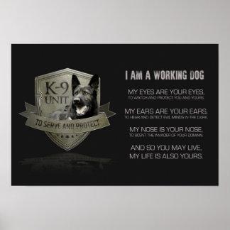 Poster K-9 unité GSD - chien de berger allemand de