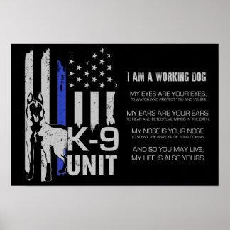 Poster K-9 unité - unité Malinois de chien policier