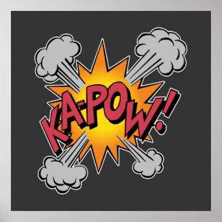 Poster KA-POW ! Graphique de bande dessinée