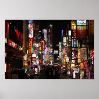 Poster Kabukichō, néons de Tokyo par nuit
