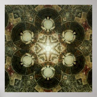 Poster Kaléidoscope de bibliothèque de Dowtown Kansas