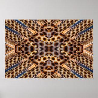 Poster Kaléidoscope de plume de faisan de Brown