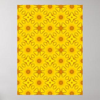 Poster Kaléidoscope des tournesols, jaune lumineux