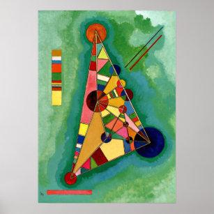 Poster Kandinsky - Triangle multicolore