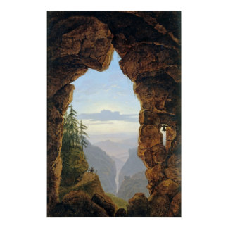 Poster Karl Friedrich Schinkel la porte dans les roches