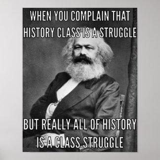 Poster Karl Marx et la lutte