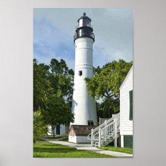 Poster Key West, la Floride, phare