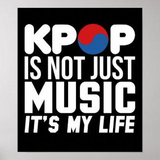 Poster Kpop est mes graphiques de slogan de musique de la