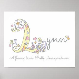 Poster L filles de Lynn d'art de monogramme appellent