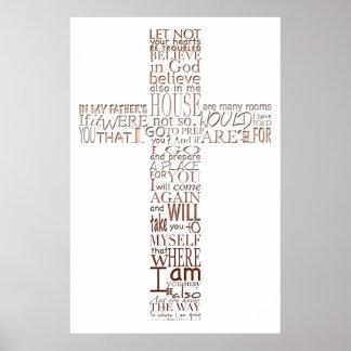 Poster La bible croisée chrétienne exprime l'affiche en