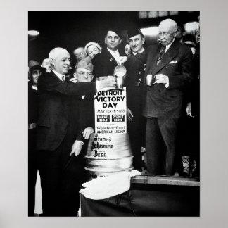 POSTER LA BRASSERIE 1933 SURVIT À L'INTERDICTION -