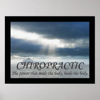 Poster La chiropractie guérit les énonciations de