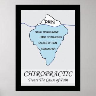 Poster La chiropractie traite l'affiche de cause