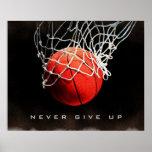 Poster La citation de motivation n'abandonnent jamais
