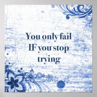 Poster La citation inspirée | de motivation n'abandonnent