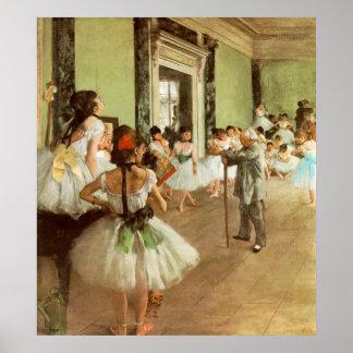 Poster La Classe de Danse par Edgar Degas
