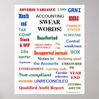 Poster La COMPTABILITÉ JURENT le comptable drôle ennuyant