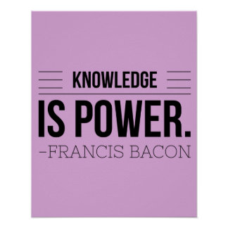 Poster La connaissance est citation de motivation de