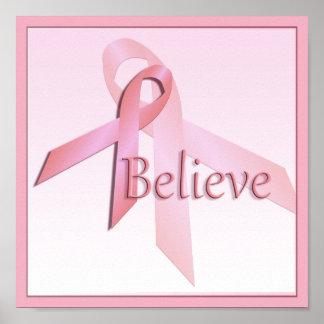 Poster La conscience rose de cancer du sein croient