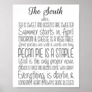 Poster La copie du sud