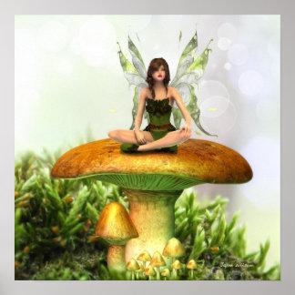 Poster La copie féerique d'affiche de champignon