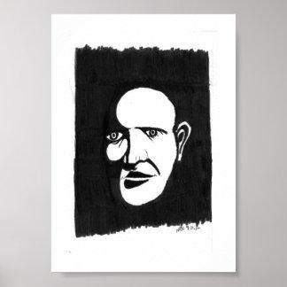 """Poster """"La copie silencieuse de l'homme"""" 5x7"""""""