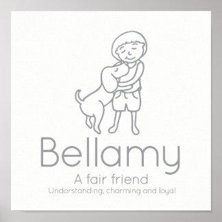 Poster La coutume de signification de nom d'amitié de