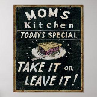 Poster La cuisine de la maman
