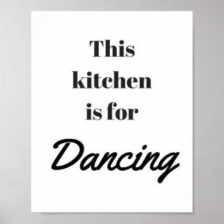 Poster La cuisine est pour l'affiche de danse