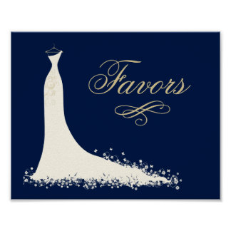 Poster La douche nuptiale favorise au signe | la robe de