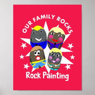 Poster la famille bascule le graphique d'amusement de