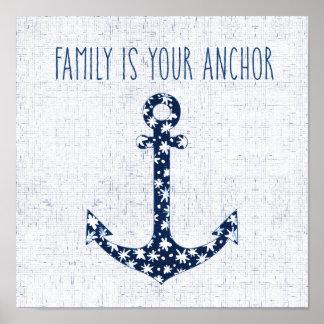 Poster La famille nautique de la citation | est votre