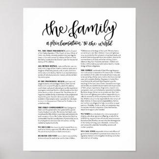 Poster La famille : Une proclamation au monde