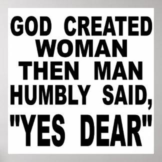 Poster La femme créée par Dieu équipent alors a