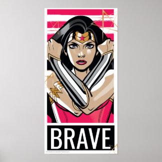 Poster La femme de merveille défendent - le modèle