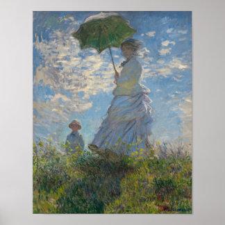 Poster La femme de Monet avec un parasol