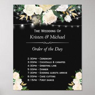 Poster La ficelle florale ene ivoire allume l'ordre du