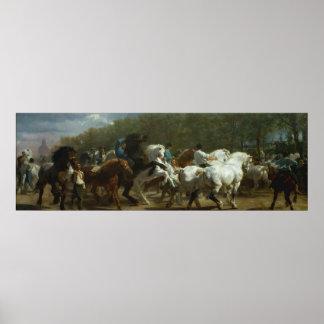 """Poster """"La foire de cheval"""" par l'affiche de Rosa"""